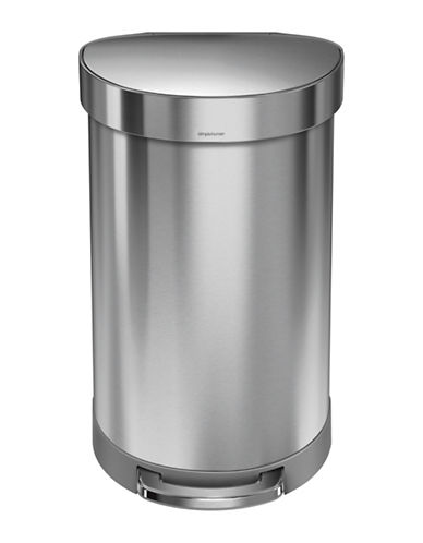 Simplehuman Silvertone 45L Semi-Round Can-SILVER-One Size