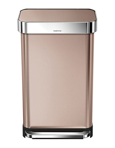 Simplehuman Rose-Goldtone 45L Rectangular Can-ROSE GOLD-One Size