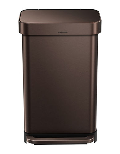Simplehuman Bronze 45L Rectangular Can-BRONZE-One Size