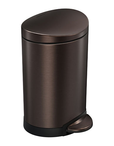 Simplehuman Bronze 6L Semi-Round Can-BRONZE-One Size