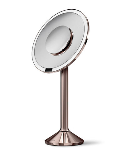 Simplehuman Round Sensor Mirror Pro - 5x, 10x Magnification-ROSE GOLD-One Size