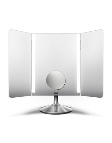 Simplehuman Silvertone Wide-View Sensor Mirror Pro - Dual Magnification-SILVER-One Size