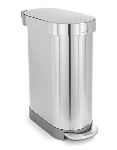 Simplehuman 45L Slim Step Trash Can-STEEL-One Size