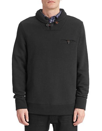 Billy Reid Shiloh Shawl Sweater-BLACK-Large 87194095_BLACK_Large