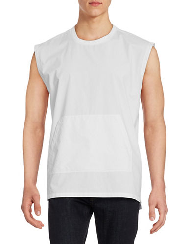Shades Of Grey Solid Muscle T-Shirt-WHITE-Large