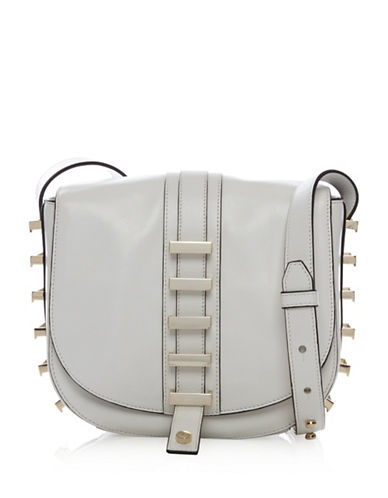 Luana Italy Sedgwick Small Saddle Bag-WHITE-One Size