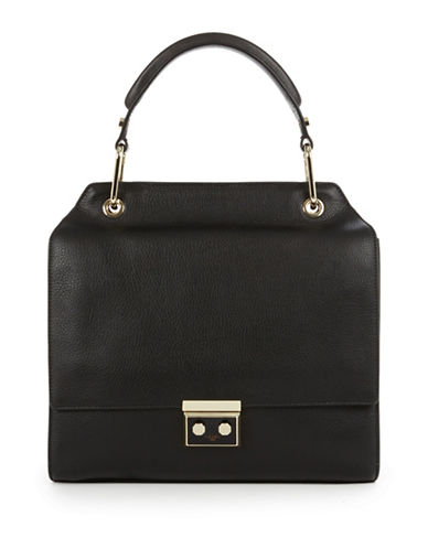 Luana Italy Anais Satchel Bag-BLACK-One Size
