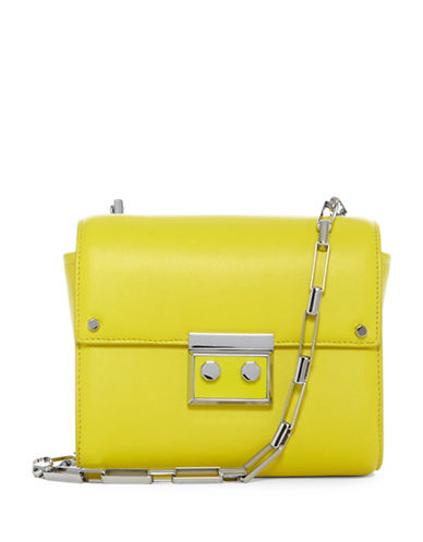 Luana Italy Anais Leather Mini Shoulder Bag-YELLOW-One Size