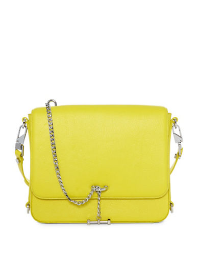 Luana Italy HRC 2016 Paley Leather Shoulder Bag-YELLOW-One Size