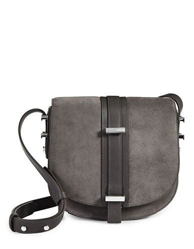 Luana Italy Marianne Saddle Bag-GREY-One Size