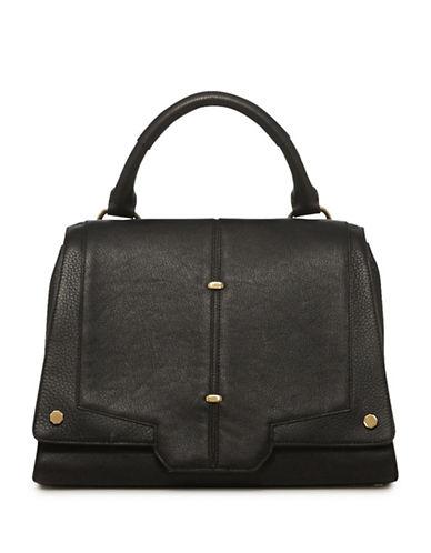 Luana Italy Vreeland Leather Satchel-BLACK-One Size