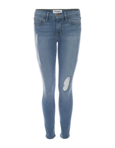 Frame Denim Distressed Skinny Jeans-ECHO PARK-28