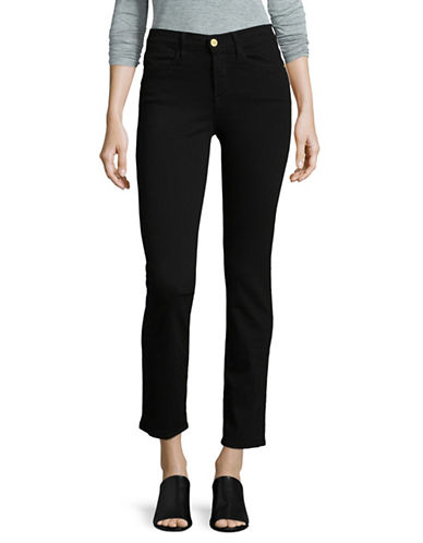 Frame Denim High-Rise Jeans-BLACK-28