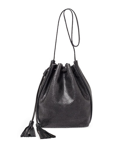 Botkier New York Haven Leather Bucket Bag-BLACK-One Size