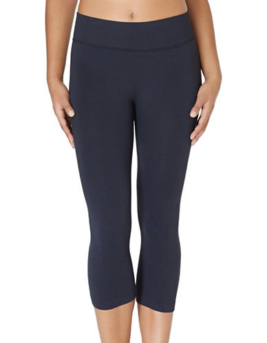 Yummie By Heather Thomson Gabby Seamless Capri-BLACK-Small/Medium