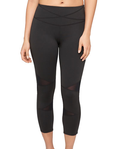 Yummie By Heather Thomson Leah Mesh Panel Capris-BLACK-Small 88601391_BLACK_Small