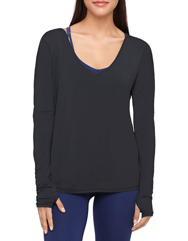 Yummie By Heather Thomson Betsey Long Sleeve Top-BLACK-X-Large