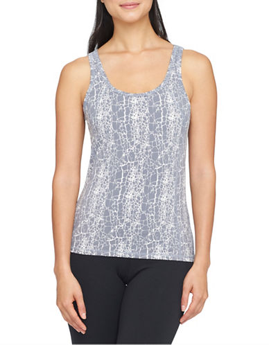 Yummie By Heather Thomson Janis Cut Out Tank-GREY-X-Small