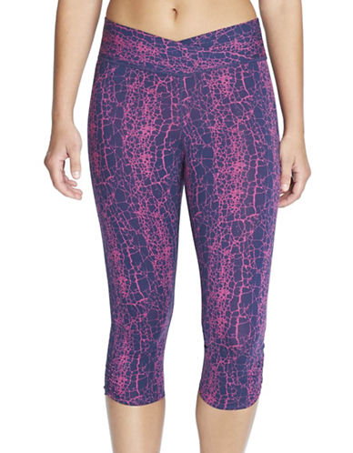 Yummie By Heather Thomson Candace Printed Capri Leggings-PINK-X-Large 88601389_PINK_X-Large
