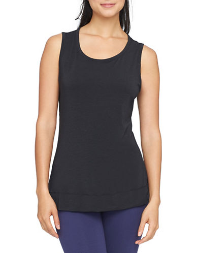 Yummie By Heather Thomson Cameron Open Back Muscle Tank-BLACK-Small