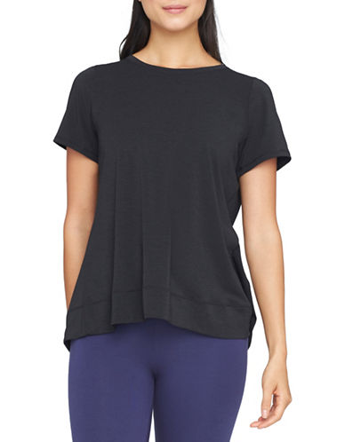 Yummie By Heather Thomson Open Back Tee-BLACK-X-Small 88601345_BLACK_X-Small