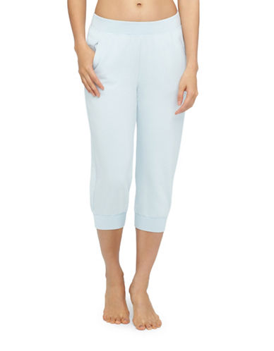 Yummie By Heather Thomson French Terry Capri Pants-LIGHT BLUE-X-Large plus size,  plus size fashion plus size appare