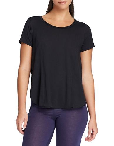 Yummie By Heather Thomson Side Vent T-Shirt-BLACK-Medium 88361081_BLACK_Medium