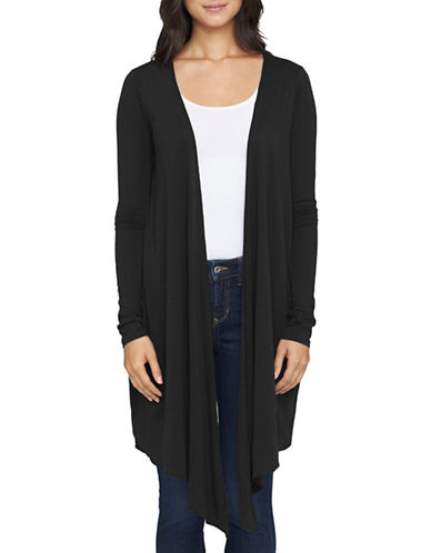 Yummie By Heather Thomson Cascading Wrap Cardigan-BLACK-Medium 88361089_BLACK_Medium