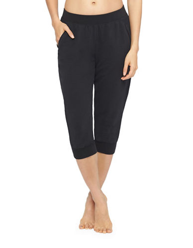 Yummie By Heather Thomson French Terry Capri Pants-BLACK-Large 88437742_BLACK_Large