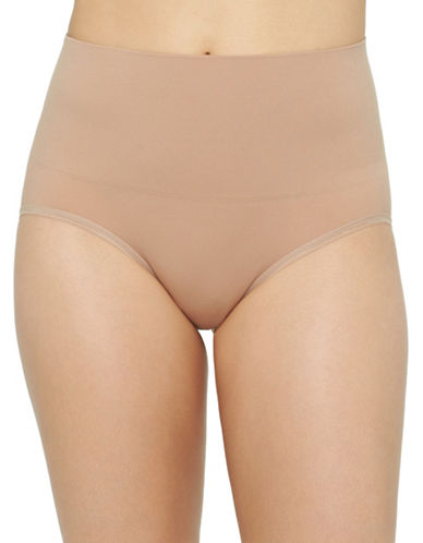 Yummie By Heather Thomson Ultralight Seamless Briefs-ALMOND-Medium/Large