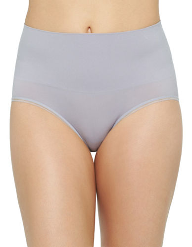 Yummie By Heather Thomson Ultralight Seamless Briefs-GREY-Large/X-Large