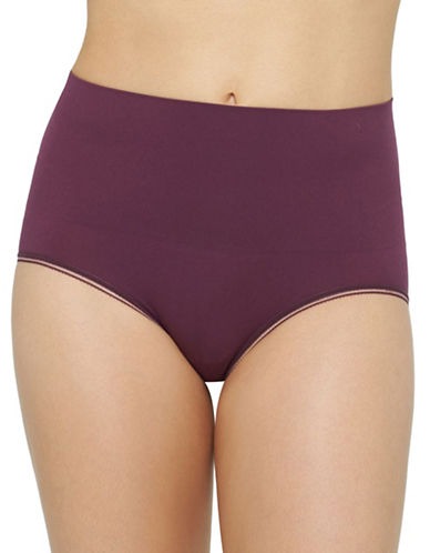 Yummie By Heather Thomson Ultralight Seamless Briefs-PURPLE-Medium/Large
