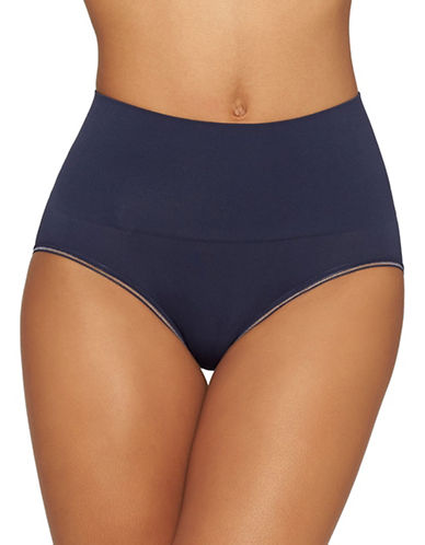 Yummie By Heather Thomson Ultralight Seamless Briefs-PEACOAT-Large/X-Large