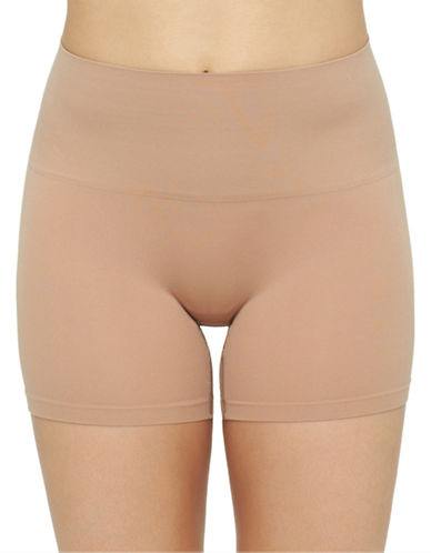 Yummie By Heather Thomson Ultralight Seamless Shorts-ALMOND-Large/X-Large