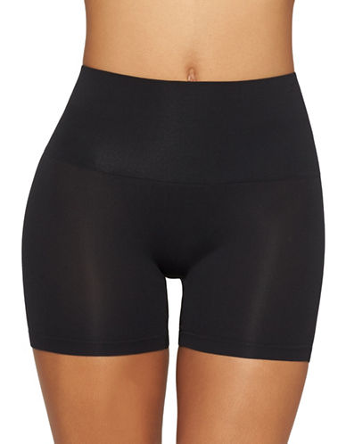 Yummie By Heather Thomson Ultralight Seamless Shorts-BLACK-Medium/Large