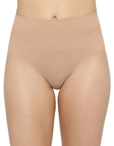 Yummie By Heather Thomson Ultralight Seamless Thong-ALMOND-Large/X-Large