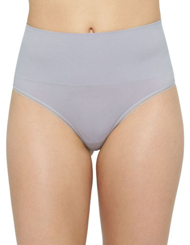 Yummie By Heather Thomson Ultralight Seamless Thong-GREY-Large/X-Large