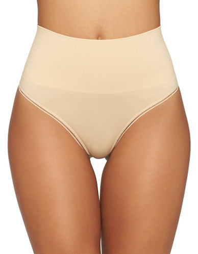 Yummie By Heather Thomson Ultralight Seamless Thong-FRAPPE-Small/Medium