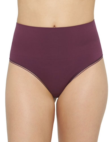 Yummie By Heather Thomson Ultralight Seamless Thong-PURPLE-Medium/Large