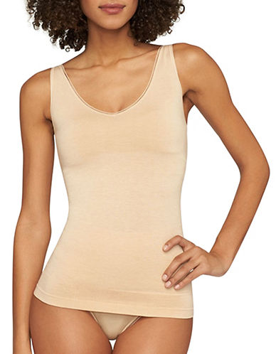 Yummie By Heather Thomson Seamless Tank Top-FRAPPE-Medium/Large