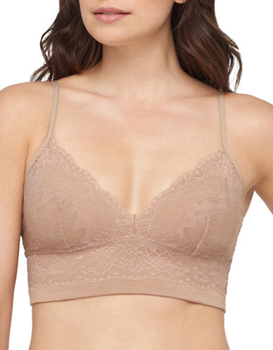 Yummie By Heather Thomson Cami Lace Bralette-ALMOND-Medium/Large