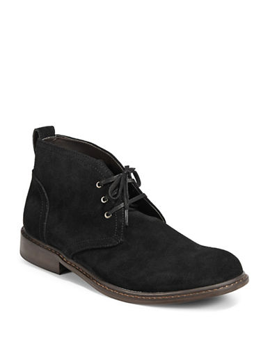 Black Brown 1826 Suede Desert Boots-BLACK-9