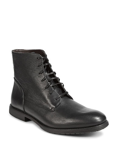 Black Brown 1826 Leather High-Top Boots-BLACK-10.5