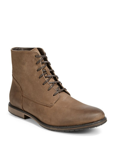 Black Brown 1826 Leather High-Top Boots-COGNAC-8.5