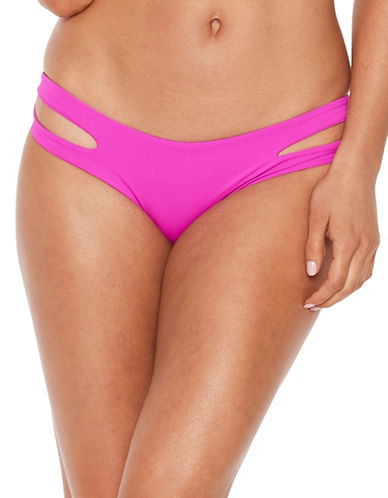 L Space Sweet and Chic Estella Swim Bottoms-BRIGHT FUCHSIA-Large