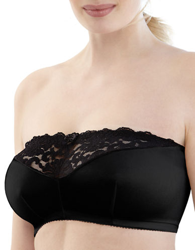 Glamorise Strapless Leisure Bra-BLACK-34B/C/D