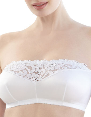 Glamorise Strapless Leisure Bra-WHITE-44B/C/D