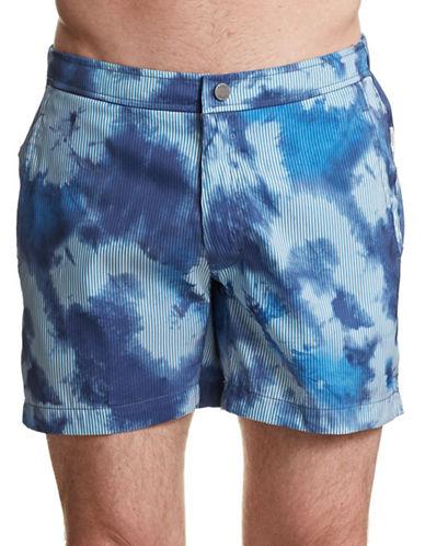 Onia Calder Cloud Stripe Boardshorts-BLUE-X-Large