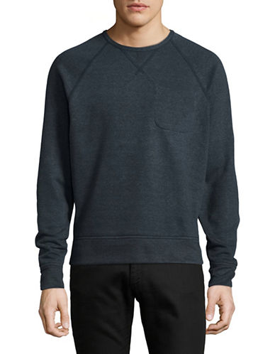 Outerknown Heathered Crew Neck Sweater-BLUE-Large