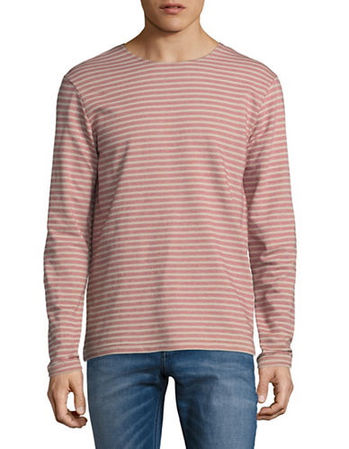 Outerknown Organic Cotton Stripe Shirt-RED-X-Large